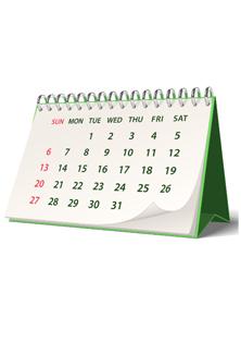 Events Calendar 2014